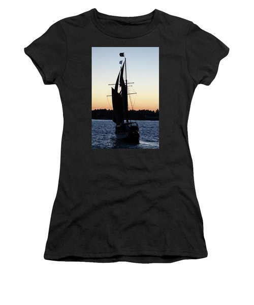 Sailing At Sunset Women's T-Shirt
