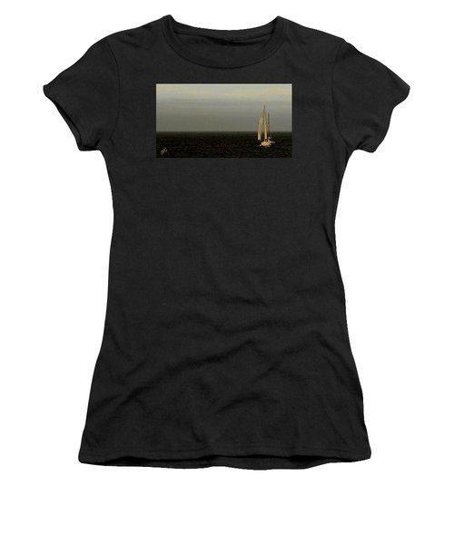 Women's T-Shirt (Junior Cut) featuring the photograph Sailing by Ben and Raisa Gertsberg