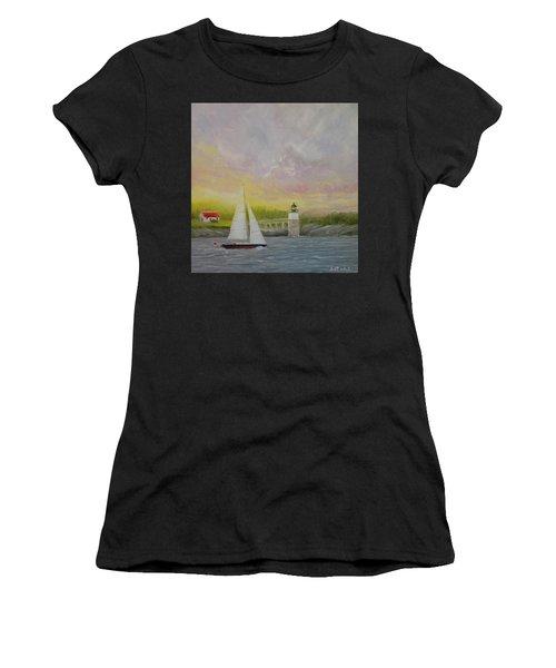Sailing By Ram Island Women's T-Shirt