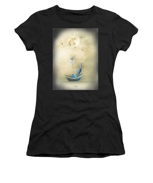Sailing By The Moon Women's T-Shirt (Athletic Fit)