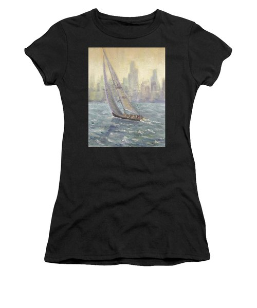 Sailing Chicago Women's T-Shirt (Athletic Fit)