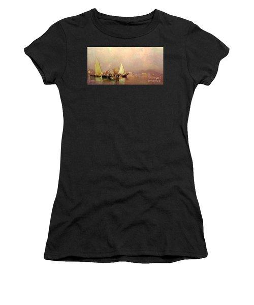 Sailing Fishermen Boats In Naples Women's T-Shirt