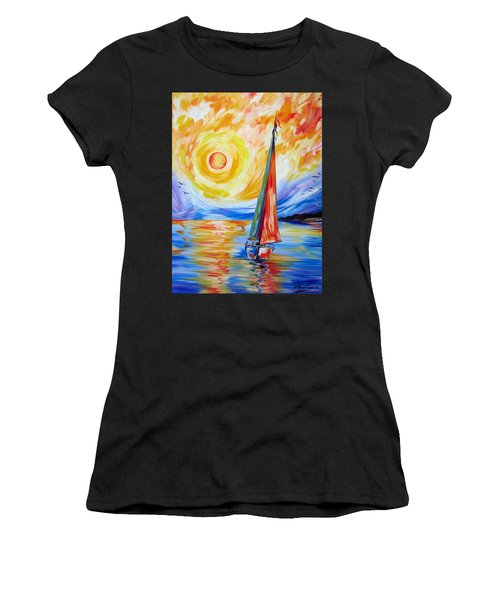 Sailing In The Hot Summer Sunset Women's T-Shirt (Athletic Fit)