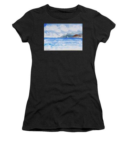 Sailing Into Moorea Women's T-Shirt