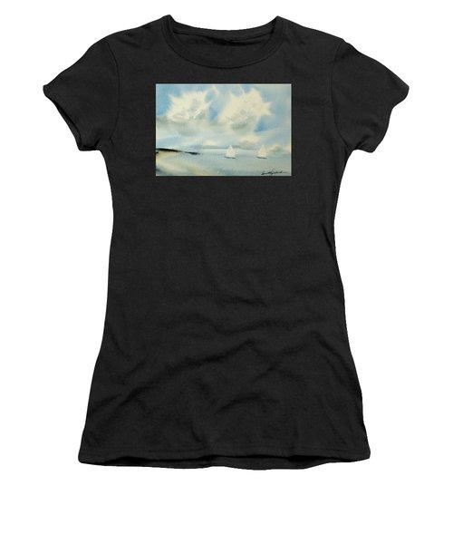 Sailing Into A Calm Anchorage Women's T-Shirt