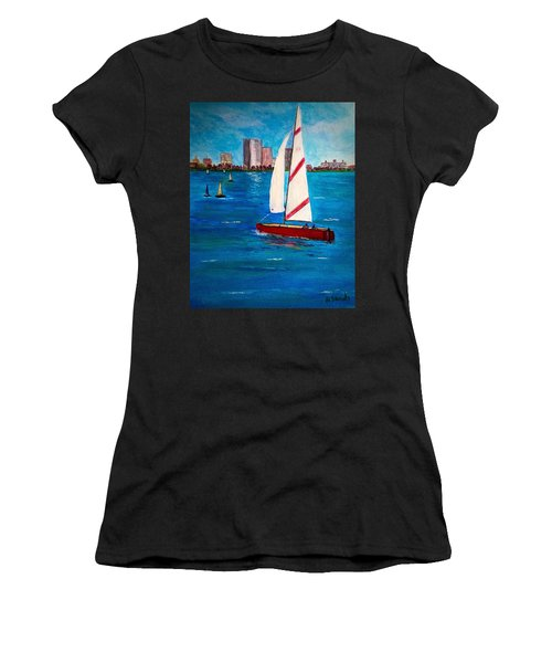 Sailing On The Charles Women's T-Shirt (Athletic Fit)