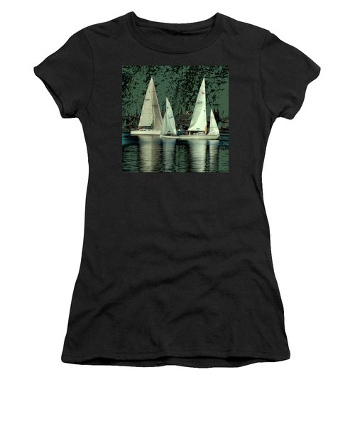 Women's T-Shirt (Junior Cut) featuring the photograph Sailing Reflections by David Patterson