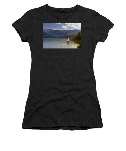 Sailing The Mountain Lakes Women's T-Shirt