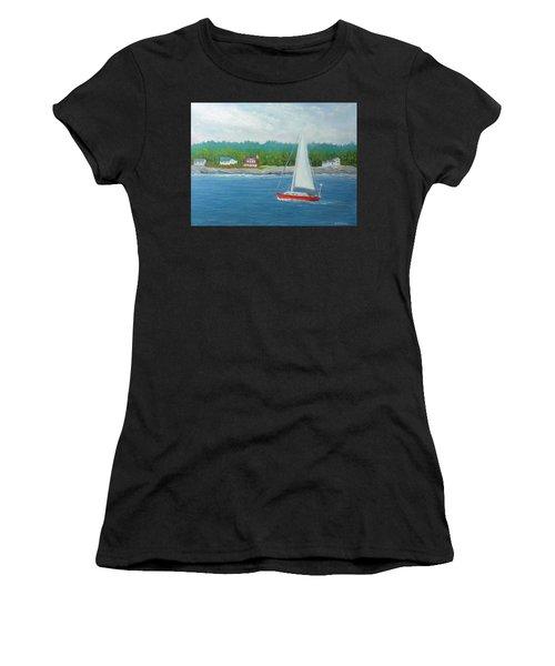 Sailing To New Harbor Women's T-Shirt