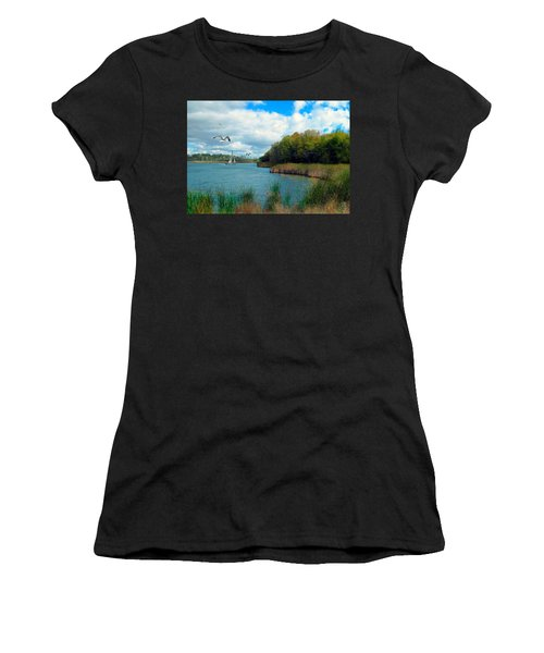 Sails In The Distance Women's T-Shirt (Athletic Fit)