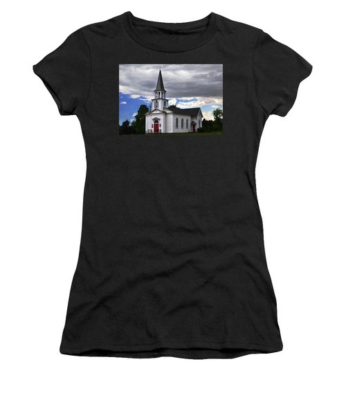 Women's T-Shirt (Junior Cut) featuring the photograph Saint James Episcopal Church 001 by George Bostian