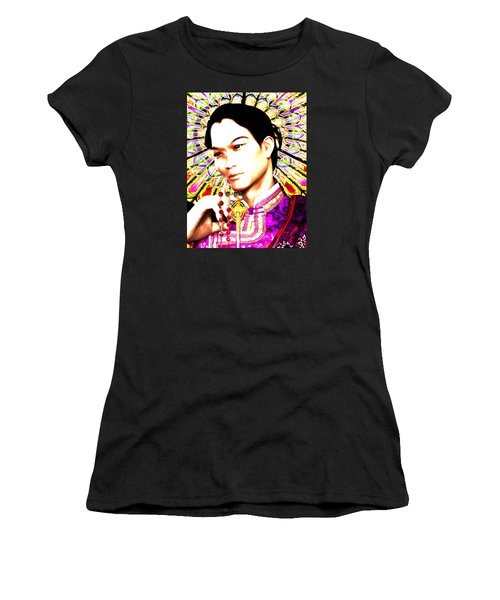 Women's T-Shirt (Junior Cut) featuring the painting Saint Lorenzo Ruiz by Suzanne Silvir