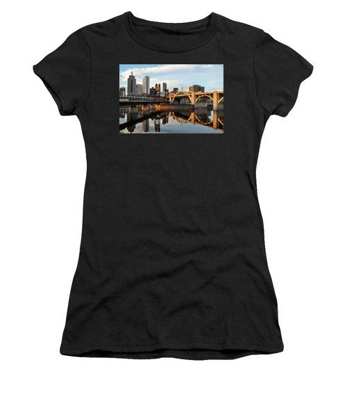 Saint Paul Mississippi River Sunset Women's T-Shirt
