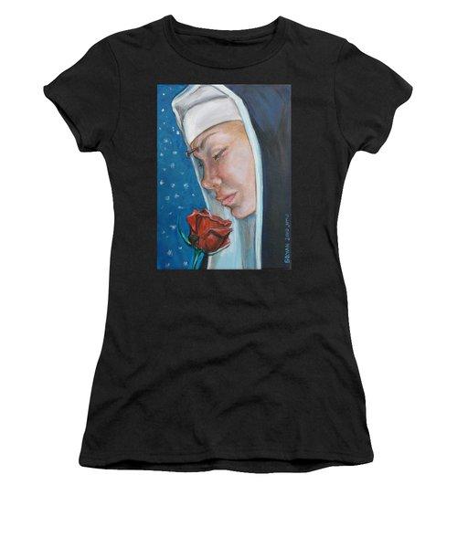 Saint Rita Of Cascia Women's T-Shirt (Athletic Fit)