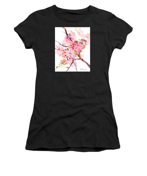 Sakura Cherry Blossom Women's T-Shirt (Athletic Fit)