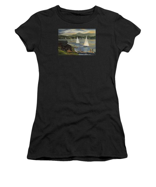 Sailing At Lake Morey Vermont Women's T-Shirt