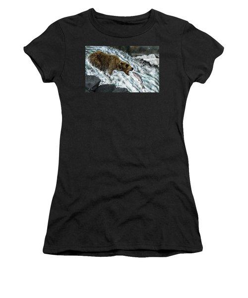 Salmon Fishing Women's T-Shirt (Junior Cut) by Don Olea