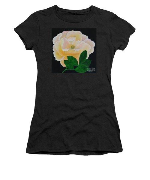 Salmon Pink Rose Women's T-Shirt