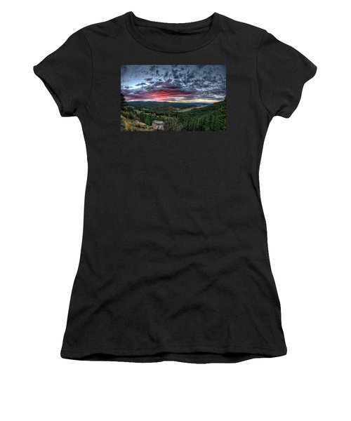 Salt Creek Sunrise Women's T-Shirt (Athletic Fit)