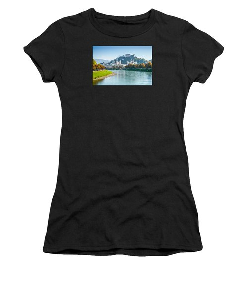 Salzburg Skyline With Fortress In Summer, Austria Women's T-Shirt (Athletic Fit)