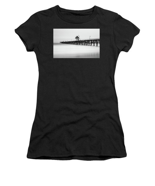 Women's T-Shirt featuring the photograph San Clemente Pier by Tassanee Angiolillo