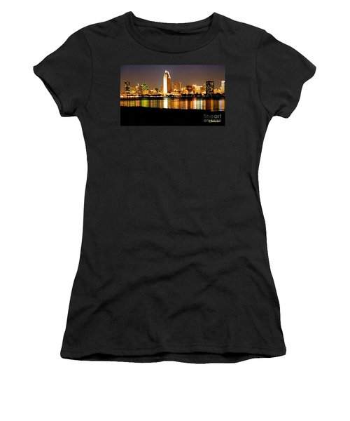 San Diego Skyline With Reflections On Mission Bay Women's T-Shirt