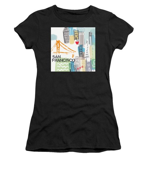 San Francisco Cityscape- Art By Linda Woods Women's T-Shirt