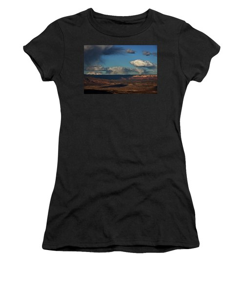 San Francisco Peaks With Snow And Clouds Women's T-Shirt