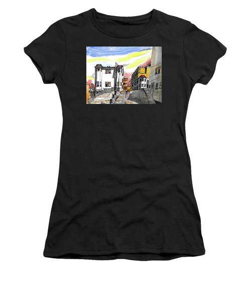 San Francisco Side Street Women's T-Shirt (Athletic Fit)
