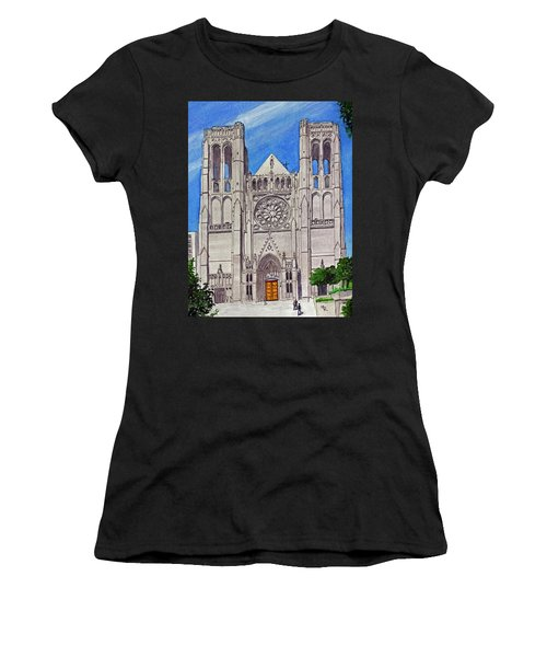 San Francisco's Grace Cathedral Women's T-Shirt (Athletic Fit)