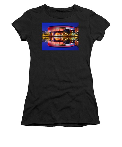 San Mames Stadium At Night With Water Reflections Women's T-Shirt