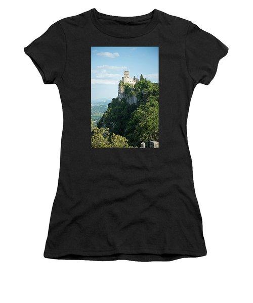 San Marino - Guaita Castle Fortress Women's T-Shirt (Athletic Fit)