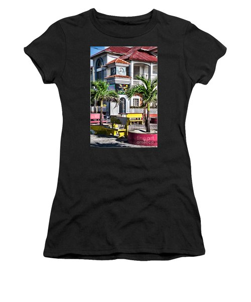 San Pedro Town Plaza Women's T-Shirt (Athletic Fit)