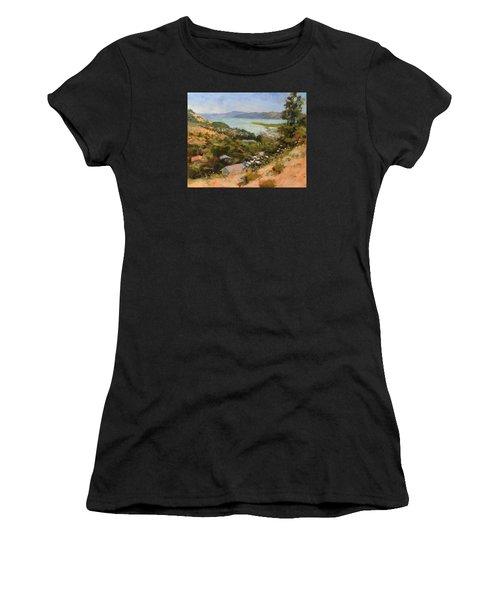 San Rafael Bay From Via La Cumbre, Greenbrae, Ca Women's T-Shirt (Athletic Fit)