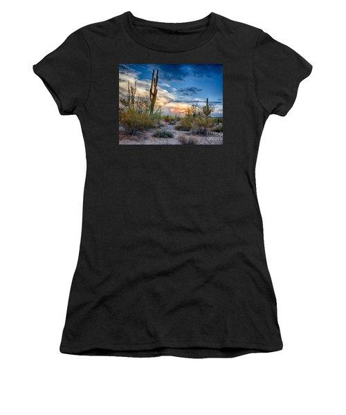 San Tan Mountain Park Sunset Women's T-Shirt (Athletic Fit)