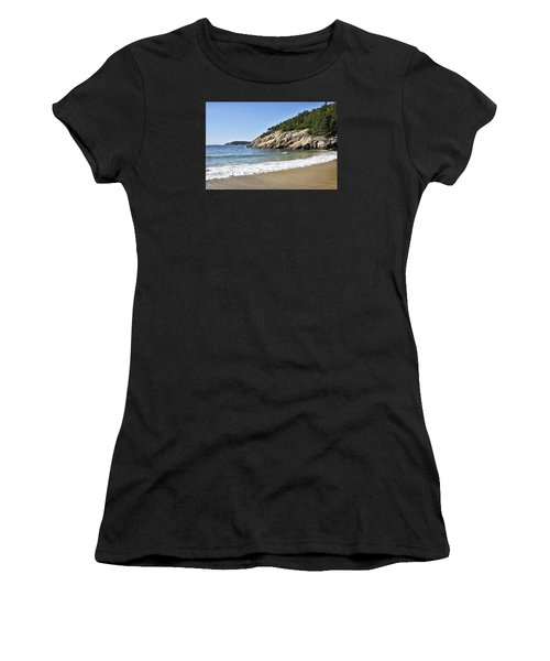 Sand Beach - Acadia National Park - Maine Women's T-Shirt (Athletic Fit)