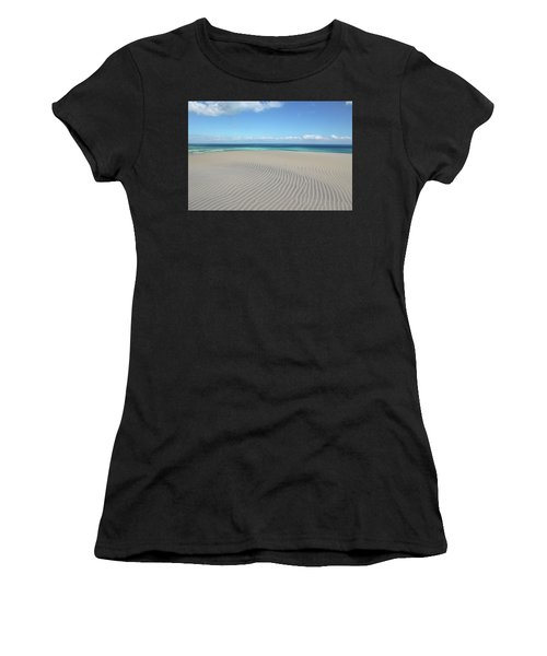 Sand Dune Ripples And The Ocean Beyond Women's T-Shirt