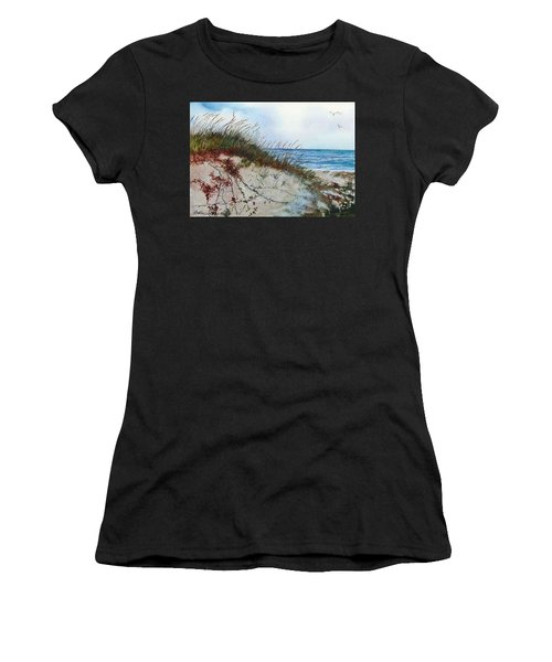 Sand Dunes And Sea Oats Women's T-Shirt (Athletic Fit)