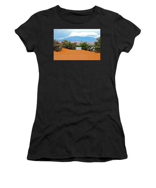 Sand Hallow Reservoir Women's T-Shirt (Athletic Fit)