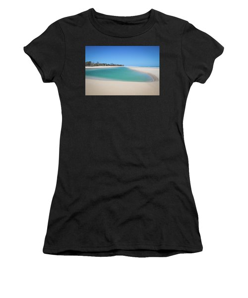 Sand Island Paradise Women's T-Shirt (Athletic Fit)