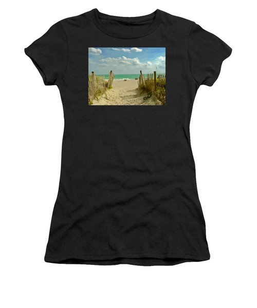 Sand Track To The Beach Women's T-Shirt (Athletic Fit)