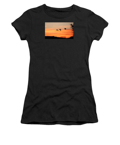 Sandhill Sunrise 2 Women's T-Shirt (Athletic Fit)