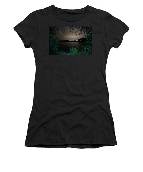 Women's T-Shirt featuring the photograph Sandra Pond At Night 2 by Brian Hale
