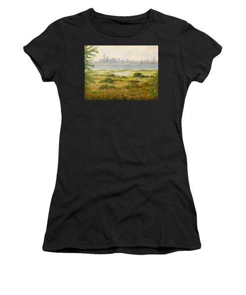 Sandy Hook View Women's T-Shirt (Athletic Fit)