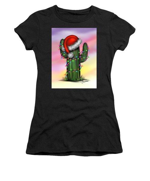 Santa Cactus Women's T-Shirt (Athletic Fit)