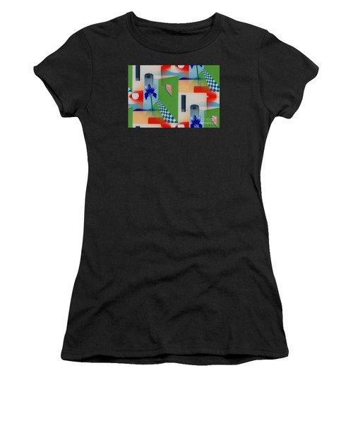 Santa Fe Adobe - #1 Women's T-Shirt (Athletic Fit)