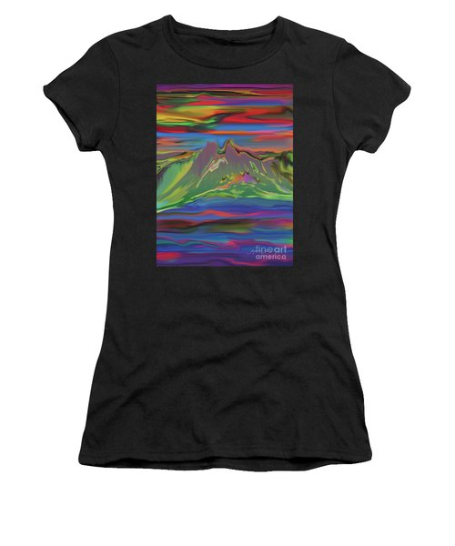 Santa Fe Sunset Women's T-Shirt (Athletic Fit)