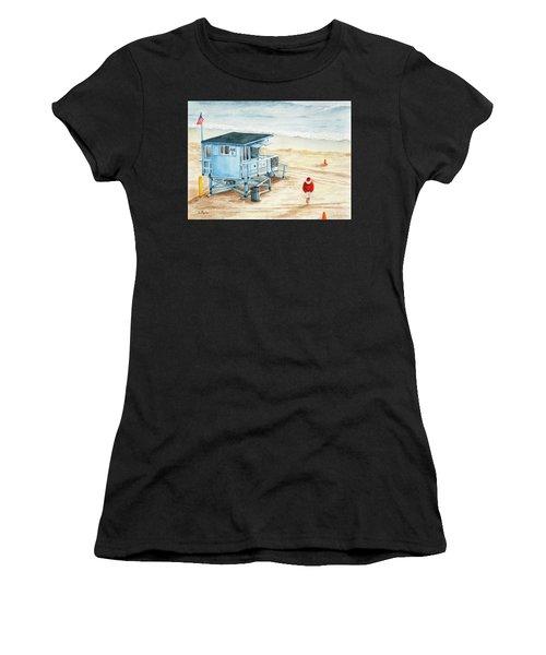 Santa Is On The Beach Women's T-Shirt