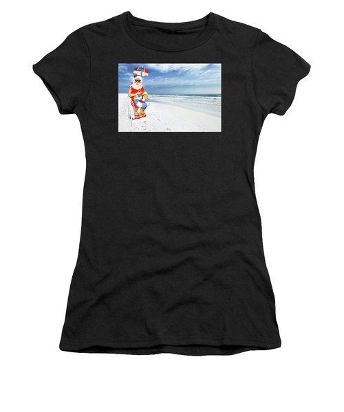 Santa Lifeguard Women's T-Shirt (Athletic Fit)