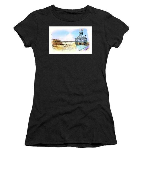 Santa Monica Pier Ver1  Women's T-Shirt (Athletic Fit)